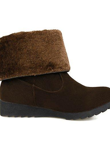XZZ  Damenschuhe - Stiefel - - - Kleid   Party & Festivität - Vlies - Keilabsatz - Modische Stiefel - Schwarz   Braun   Rot B01L1GU1KA Sport- & Outdoorschuhe Qualität und Quantität garantiert b82a27