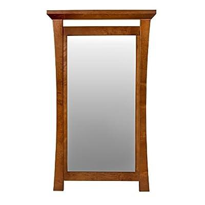Pacific Rim Style Wood Framed Mirror In Cinnamon - 605021-F08