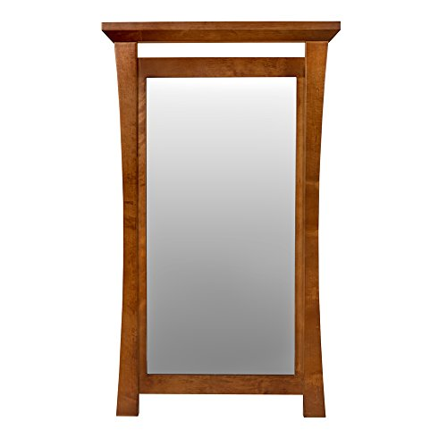 (Ronbow Pacific Rim Style Wood Framed Mirror in Cinnamon - 605021-F08)