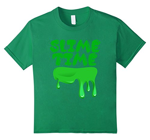 Kids Slime Time T-Shirt 12 Kelly Green (T-shirt Time Youth Big)