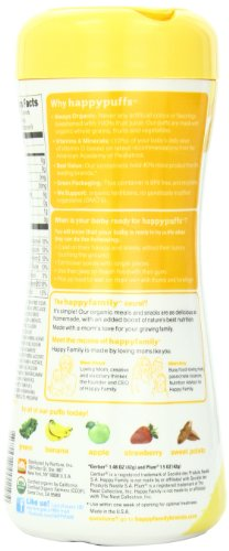 Happy Baby Organic Superfood Puffs, Banana & Pumpkin, 2.1 Ounce (Pack of 6)