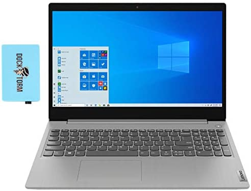 """Lenovo IdeaPad 3 Home and Business Laptop (Intel i5-1035G1 4-Core, 12GB RAM, 256GB SSD, Intel UHD Graphics, 15.6"""" Touch HD (1366x768), WiFi, Bluetooth, Webcam, 1xHDMI, SD Card, Win 10 Home) with Hub"""