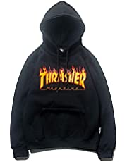 Thrasher Magazine Hoodie Pullover Hoody Womens Hooded Sweatshirt with Pocket