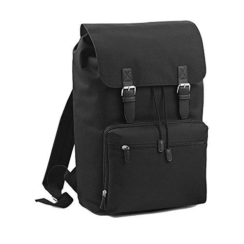 Bagbase Heritage Laptop-Rucksack / Rucksack, für Laptops bis zu 17 Zoll (One Size) (Schwarz)