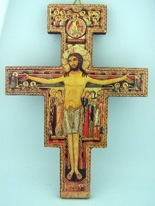 Gold Foil on Wood the San Damiano Cross of St Francis of Assisi, 8 1/4 Inch by Religious Gifts