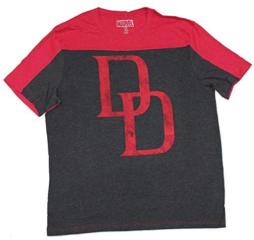 Daredevil Symbol Two-Tone Men's T-Shirt- Large,Red ()
