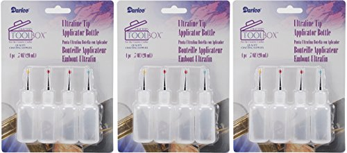Darice Ultrafine Tip Applicator Bottle, 20ml (3 Pack) by Darice