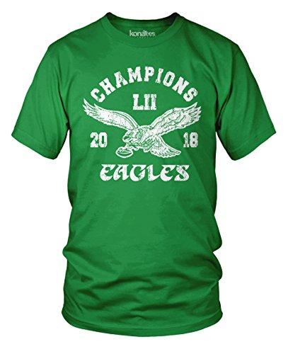 KonaTees 2017-2018 Eagles World Championship Football Fan - Vintage, Destressed T-Shirt- XL Cornell Vintage Apparel