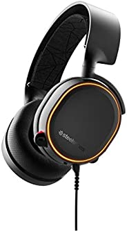 SteelSeries Arctis 5 Gaming Headset - DTS Headphone:X v2.0 7.1 Surround Sound - RGB Illuminated Earcups - for