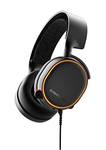 (SteelSeries Arctis 5 (2019 Edition) RGB Illuminated Gaming Headset with DTS Headphone:X v2.0 Surround for PC and PlayStation 4 - Black)