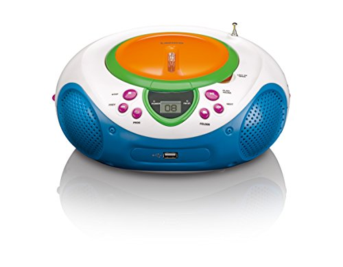 Lenco SCD-40 USB Kids CD/MP3-Player mit UKW-Radio, LCD-Display, Wiederholungsfunktion, Aux-Eingang