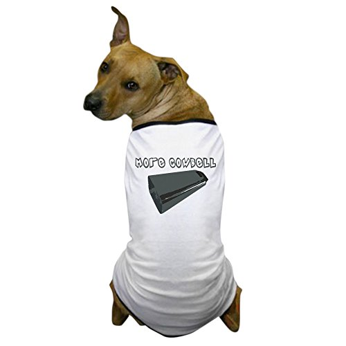 CafePress - Cowbell Dog T-Shirt - Dog T-Shirt, Pet Clothing, Funny Dog (Personalized Cowbells)
