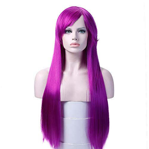 Long Straight Wigs High Temperature Fiber Synthetic Hair Cosplay Wigs Costume Halloween Party For Women]()