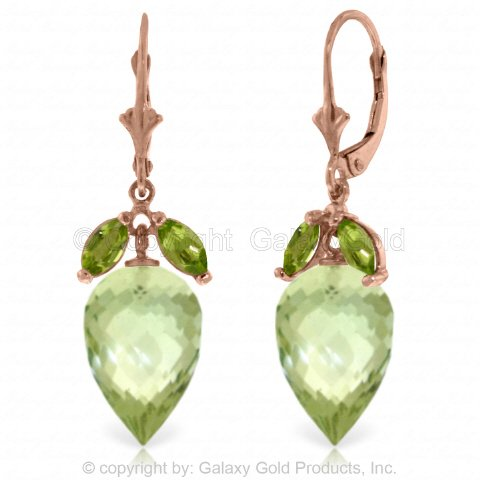 g with Dangling Peridots and Briolette Green Amethysts ()