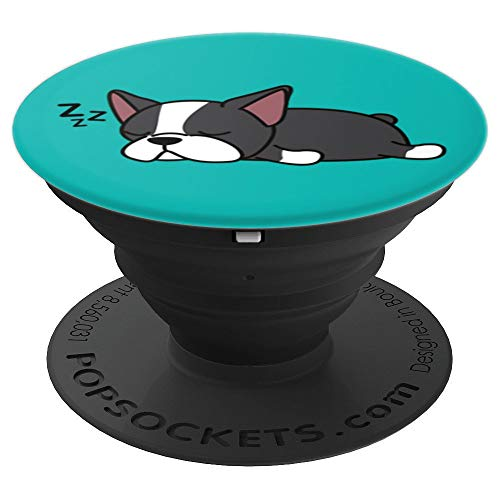 (Cute Funny Boston Terrier Dog Puppy Animal Lover Design Gift - PopSockets Grip and Stand for Phones and Tablets)