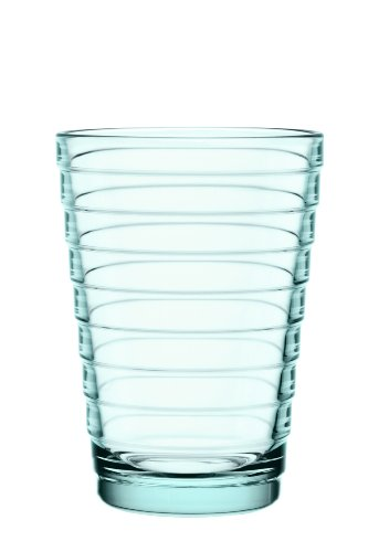 Iittala Aino Aalto Set of Two Glass Tumblers, Water Green, 11-Ounce Capacity each