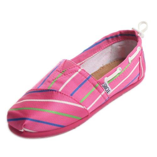 TOMS Little Kids PINK STRIPE YT BIMI ALPRG Pink 1)-4.0