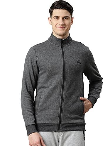 ALCiS Men Charcoal Grey Solid Jacket
