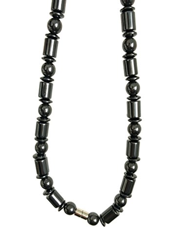- Acupress Hematite Magnetic Stone Nacklace Therapy Healing Jewelry in Multi Styles. (Type F)