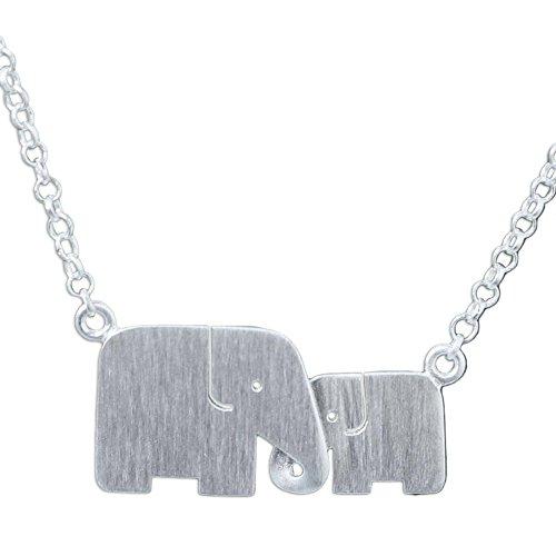 NOVICA .925 Sterling Silver Handmade Elephant Pendant Necklace, 17.5