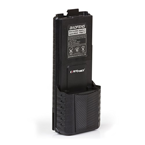 ExpertPower Baofeng UV-5R Extended True Capacity Battery (Model: BL-5L, 3800 mAh, Black) DM-5R