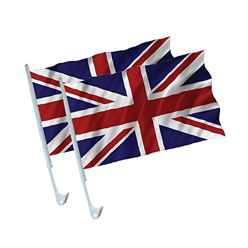 Amscan Ppp Great Britan Flag Car, Pack Of 2 Amscan International 993886