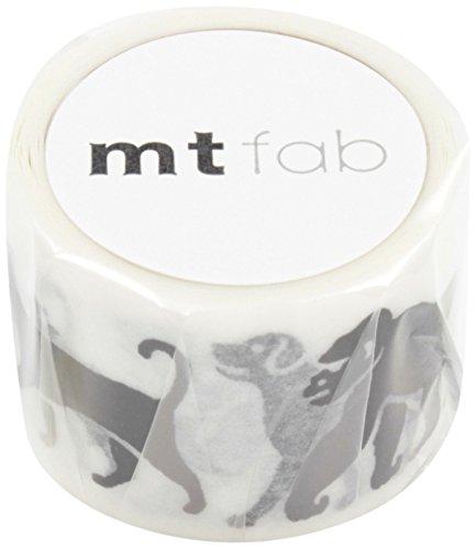 MT Washi Screen Print Masking Tape, Black Animals, 26mm x 3m (MTSC1P04) (Screen Print Design)