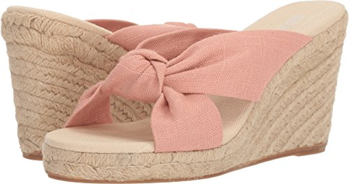 Soludos Women's Knotted (90mm) Espadrille Wedge Sandal Dusty Rose 11 Regular US ()