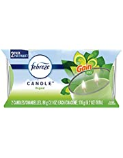 Febreze Scented Candle, Odor Eliminator Double Wick Candle, Gain Original Scent, 3.1 oz, 2 ct