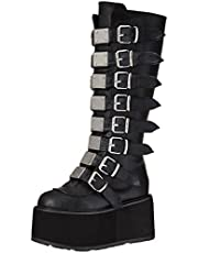 Demonia Women's DAMNED-318 Knee High Boot