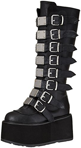 318 DAMNED Vegan Leather Demonia Blk TnWPxwzz