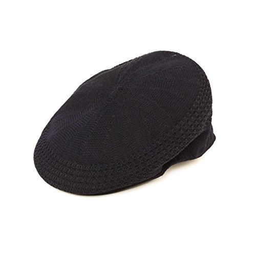 Summer Flat Mesh Vented Flat Visor Golf Ivy Driver Cabby Cap Hat Navy 58cm L