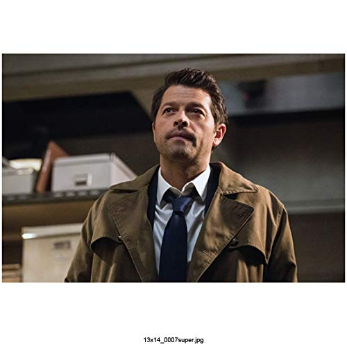 Supernatural Misha Collins as Castiel Chest Up Angled Up Shot 8 x 10 Inch - Angled Chest