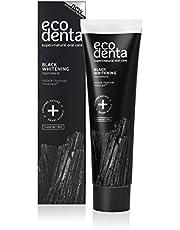 Ecodenta Tandpasta Geactiveerde Houtskool Tanden - Whitening Toothpaste Activated Charcoal- Natuurlijke Zwarte Tandplak Verwijdering Fluoridevrije 100ml