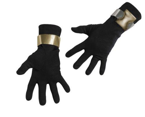 Deluxe Kids Snake Eyes Gloves (Deluxe Adult G.I. Joe Snake Eyes Gloves)