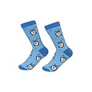 Siberian Husky Dog Breed Socks Unisex Sock Daddy by E&S Pets 30
