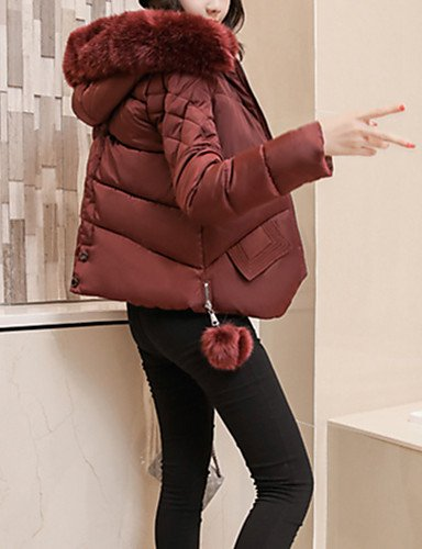 tinta otro amp; polipropileno de larga wine USCIRE sofisticato mujer relleno para unita Ciudad TT Simple ShangYi Standard manga Abrigo Sport Moda FBx6agda