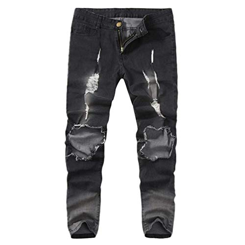Skinny Bolawoo Vestibilità Di Strappati Uomo Jeans Con Pantalone Marca Strappata Attillata Stretch Mode Grau Da 1tqFtr8