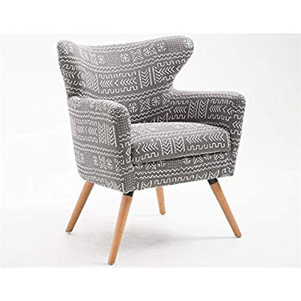 Pleasant Amazon Com Pemberly Row Hailey Gray Accent Chair Kitchen Pabps2019 Chair Design Images Pabps2019Com