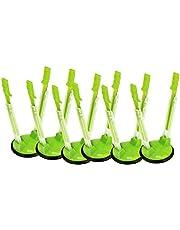 YAMA Racks Bag Holders, 6 Pack Hands-Free Clip Plastic Food Storage Bag Holder(Green)
