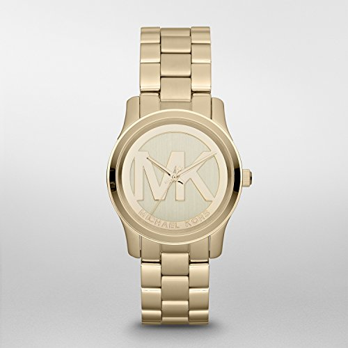 Michael Kors Womens Runway Gold Tone Watch MK5786