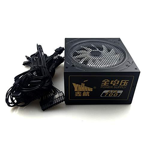 SAUJNN 700W Power Supply for Gaming 700W ATX PC Computer Power Supply Gaming PSU 12V 24PIN Active AC Input 90-240 Modular PSU Peak ()