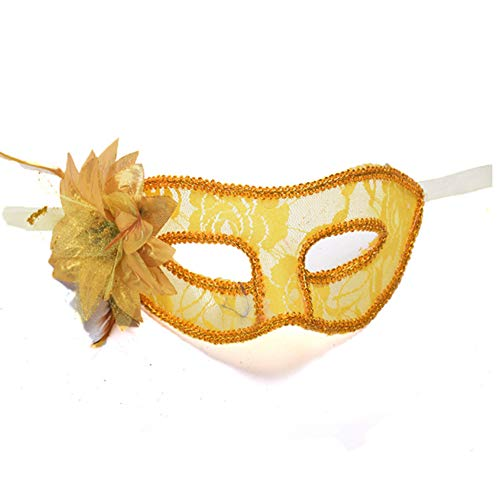 Halloween Mask Prom Mask Transparent Lace Lily Flower Mask Women Eye Mask Be Applicable Halloween Fete Spectacle -