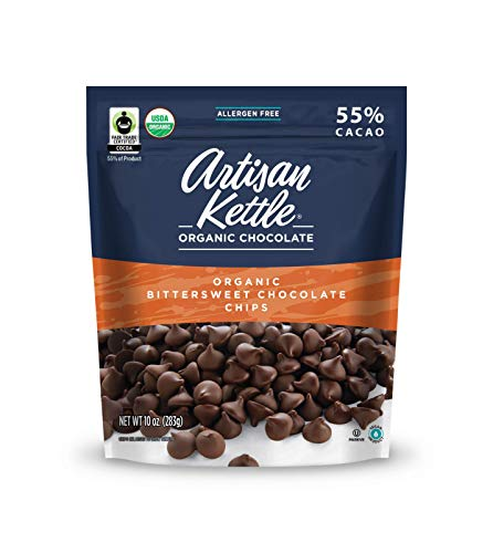 Artisan Kettle Organic Chips, Bittersweet Chocolate, 10 Ounce (Pack of 6)
