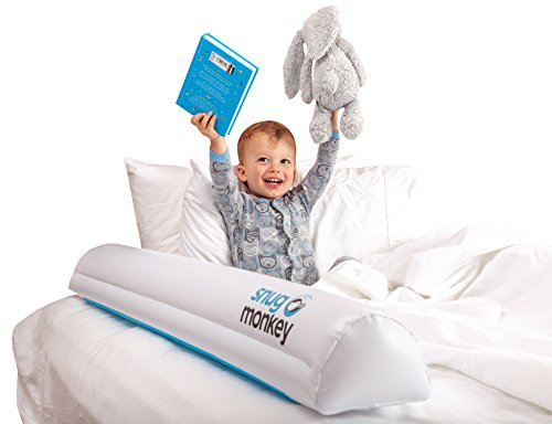 Snug Monkey Inflatable Bed Rails, Bed Bumpers for Toddlers, Kids Bed Rail Guards [2 Pack] - Prevent Falls, Works with All Bed Sizes, Portable Leak-Free Design Perfect for Travel