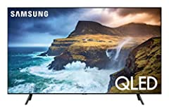 The Samsung QN55Q70RAFXZA Flat 55-Inch QLED 4K Q70 Series Ultra HD Smart TV's full array backlighting presents gorgeous blacks and radiant whites within scenes, plus an intelligent 4K processor that upscales the picture and optimizes every sc...