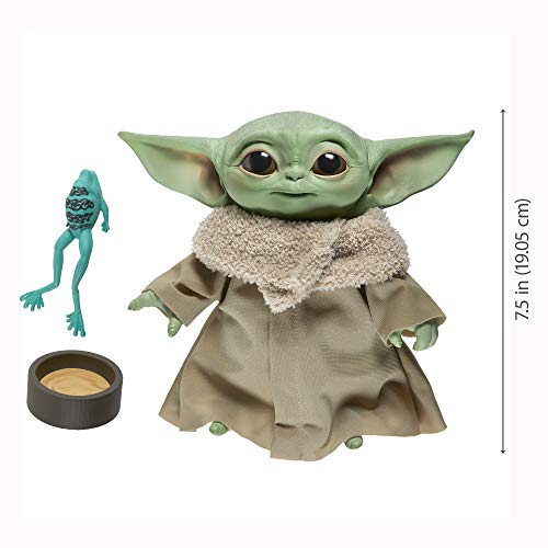 41 eA8L1LpL - Star Wars The Child Talking Plush Toy with Character Sounds and Accessories, The Mandalorian Toy for Kids Ages 3 and Up