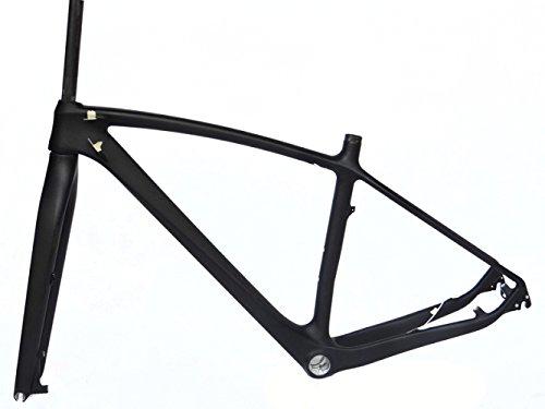 フルカーボン UDマット 29er マウンテンバイク MTB サイクリング BB30 フレームとフォーク 17インチ   B00MVVEQRO
