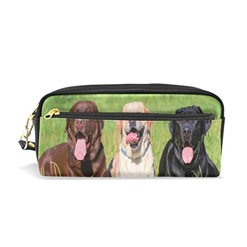 (Pencil Case Funny Labrador Retriever Big Stationery Holder Cosmetic Bag with Zip Art Colored Pen Pouch for Kids Girls Boy (1 Pack))