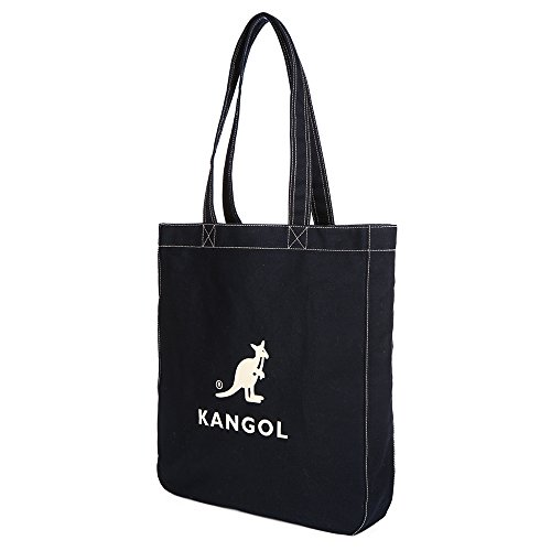 KANGOL Cotton Tote Bag for School Work Travel and Shopping Fashionable Shoulder Bag, Eco Friendly Bag Juno 0011 (Dark Navy) by Kangol (Image #1)